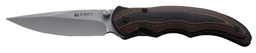 CRKT Endorser Folder 8C13MoV Satin Drop Point Blade G-10