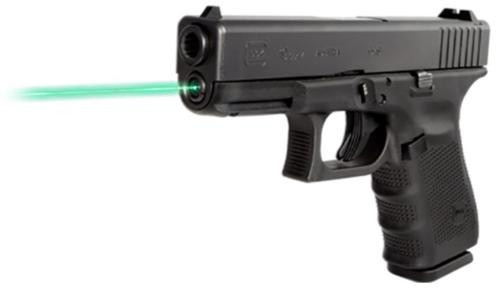 LaserMax Guide Rod Green Laser For Glock 19/23/32/38 (Gen 1-3) Black Fin