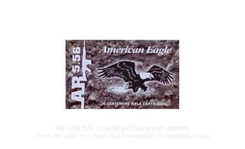 Federal American Eagle 5.56x45mm, 55 Gr, FMJBT Clipped, 30rd/Box
