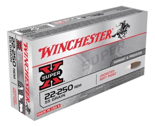 Winchester Super-X .22-250 Rem 55gr, Pointed Soft Point, 20rd Box