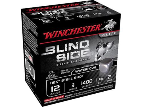 "Winchester Blindside High Velocity 12 Ga, 3.5"", 1-3/8oz, 5 Shot, 25rd/Box"