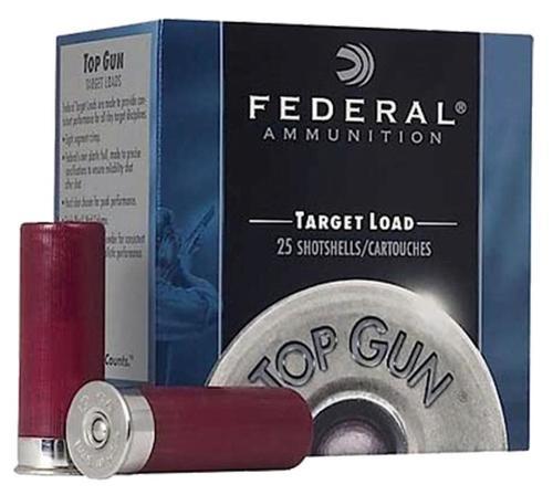 "Federal Top Gun Target 12 Ga, 2.75"", 7/8oz, 8 Shot, 25rd Box"