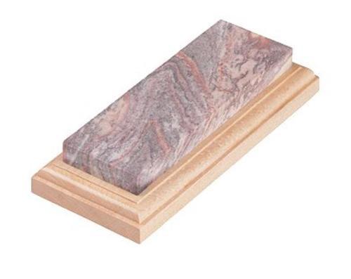 Lansky Natural Arkansas Sharpener Soft AR Stone Walnut Block