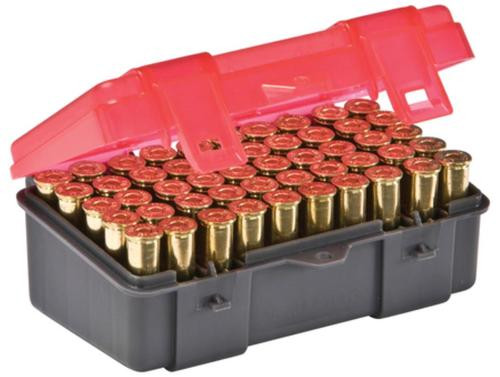 Plano Molding Flip Top Handgun Ammo Case 50rd .38 Special/.38 S&W/.357 Magnum Gray/Rose