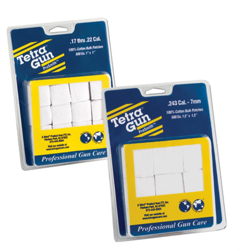 Tetra Gun Care Premium Cotton Flannel Cleaning Patches .17-.22 Caliber 800 Per Package