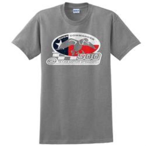 Duck Commander Texas Flag T-Shirt Short Sleeve Gray XXL Cotton 10Pk
