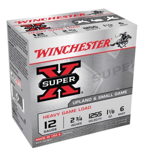 "Winchester Super-X Heavy Game Load12 Ga, 2.75"", 1255 FPS, 1.125oz, 6 Shot, 250rd/Case (10 Boxes)"