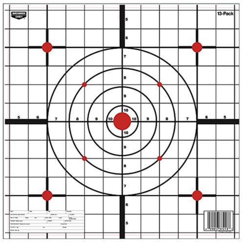 "Birchwood Casey EZE-Scorer 12"" Paper Targets, 13/Pack"