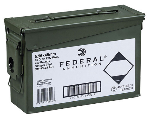 Federal American Eagle 5.56mm 55gr, Full Metal Jacket Ball, 420rd/Ammo Can
