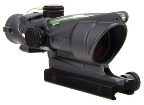 Trijicon ACOG 4x32 Scope with Green Horseshoe/Dot Reticle and M4 BDC with TA51 Mount Cerakote Sniper Gray Finish