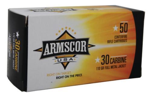 Armscor .30 Carbine, 110 Gr, FMJ, 50rd/Box