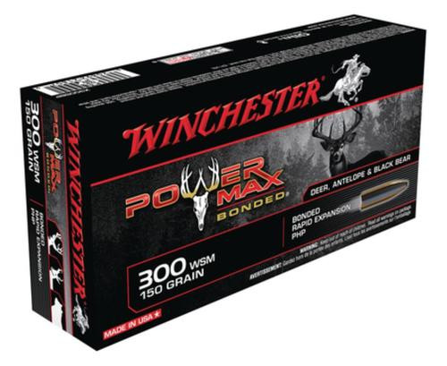 Winchester Power-Max .300 Winchester Short Magnum 150 Grain Protected Hollow Point Bonded 20rd Box