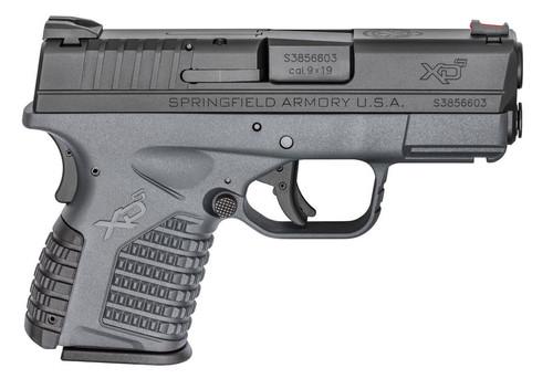 """Springfield XD-S 9mm Tactical Gray 3.3"""" Barrel Essentials Pkg 8rd Mag"""