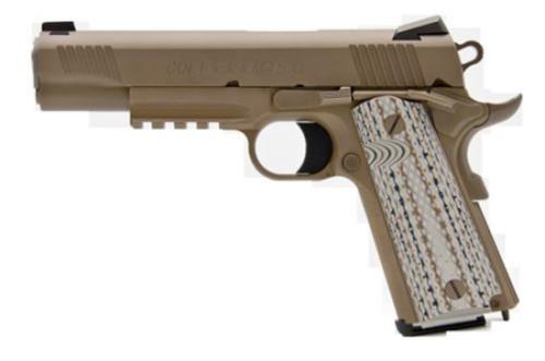 """Colt Marine M45-A1 SA 45 ACP 5"""" Barrel Novak Cerakote 7 rd Mag"""