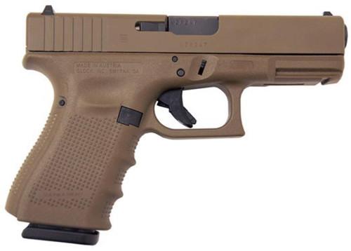 Glock 19 Gen4 Full FDE 9mm FS 15Rd