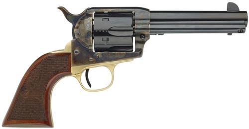 "Taylors 1873 Ranch Hand 357 Magnum 4.75"" 6 Checkered Walnut Blued"