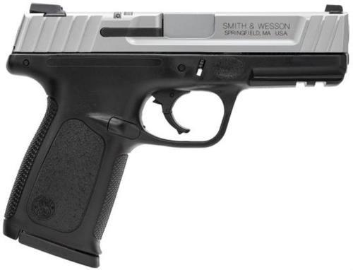 "Smith & Wesson SD VE *CA Compliant* 9mm 4"" Barrel, Black Poly Frame/SS Slide, 10rd"