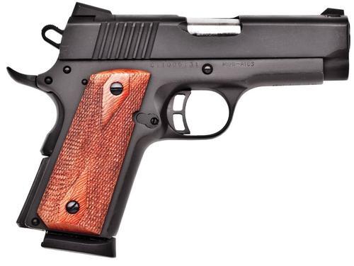 """Citadel M-1911 Compact Single 9mm 3.5"""" Barrel, Wood Grip Black, 7rd"""
