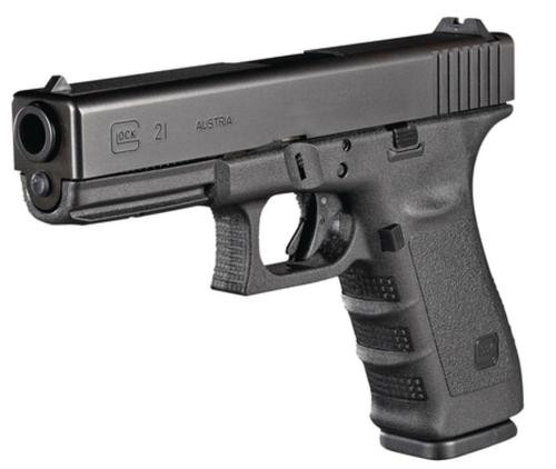 "Glock G21SF Short Frame Gen3 45 ACP 4.6"", Fixed Sights, 13 Round"