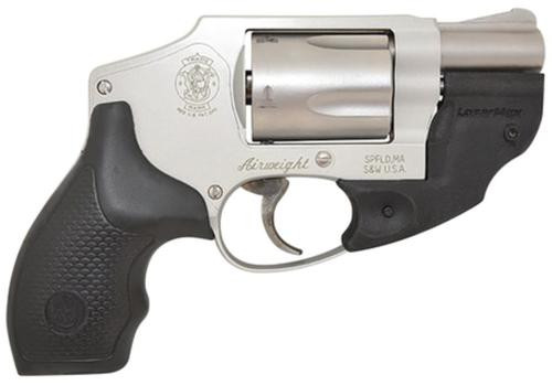 """Smith & Wesson Model 642 Airweight, LaserMax .38 Special +P 1.8"""" Barrel Hammerless 5rd"""
