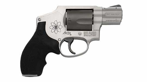 Smith and Wesson 340SCPD Airlite 357Mag, 1 7/8 Inch, Black/Gray, Fixed Sights, Rubber Grips, Scandium, 5rd