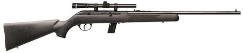 """Savage 64 FXP with Scope LH 22LR 21"""" Barrel, Synthetic Black, 10rd"""