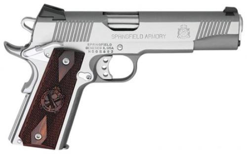 Springfield 1911 Loaded, 45 ACP, Stainless Steel, Novak Low Sight, 2 Mags