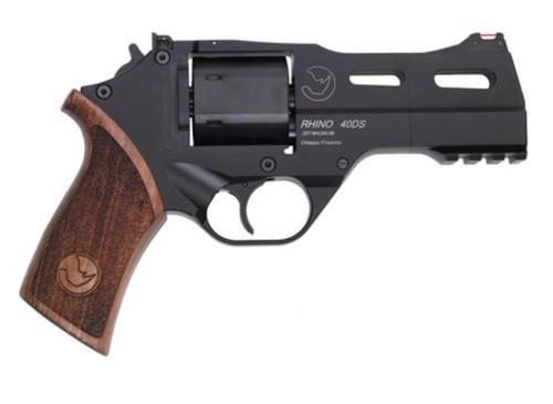 "Chiappa Rhino Revolver .40 SW 4"" Barrel, Wood Grips 5 Moonclips 6rds"