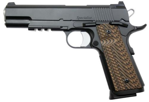 "Dan Wesson Specialist 1911 45 ACP, 5"" Barrel, Matte Black, G-10 VZ II Grips, Night Sights"
