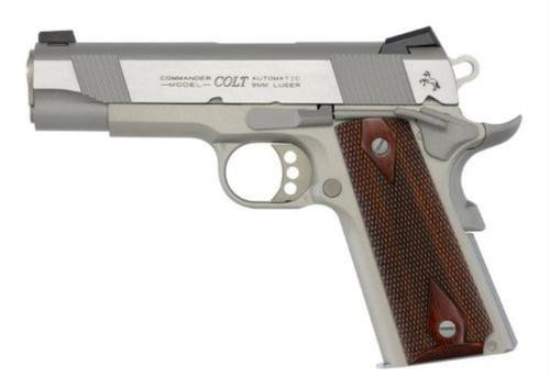 """Colt 1911 Govt XSE Series 9mm, 5"""", Stainless Steel, Rosewood Grips"""