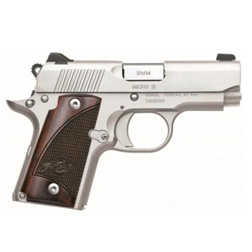 """Kimber Micro 9 Stainless 9mm 3"""" Barrel, Rosewood Grips 6 Rd Mag"""