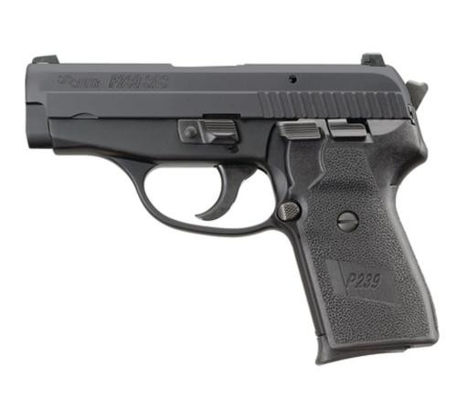 Sig P239 9MM 3.6In SAS Black Da/Sa Siglite Polymer Grip (2) 8RD Steel MAG Dehorned SRT