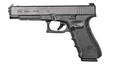 "Glock G34 Gen4 Competition 9mm, 5.31"" Barrel, Adj Sights, Black, 17rd Mags"