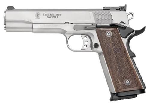 """Smith & Wesson 1911 PRO 9MM 5"""" Barrel Adjustable Sites SS Finish"""