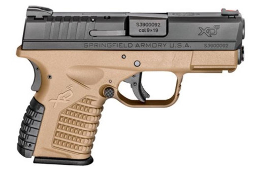"Springfield XD-S 9mm, 3.3"", Flat Dark Earth, Essentials Package"