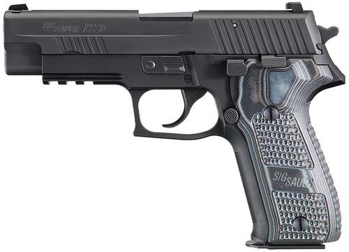 Sig P226 9MM 4.4In Extreme Black Da/Sa Siglite Black/Gray G10 Grip (2) 10Rd Steel MAG CA Compliant SRT
