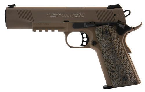 Walther Colt 1911 .22 L.R. Rail Gun Flat Dark Earth 12 Round, 1 Mag
