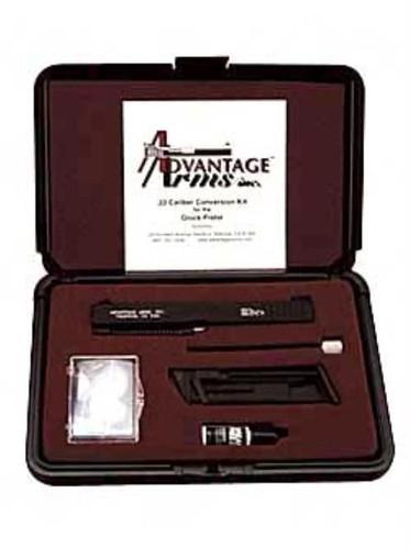 "Advantage Arms Conversion Kit, 22LR, 3.46"" Barrel, Fits Glock 26/27, With Cleaning Kit, Black, 1-10Rd Magazine"