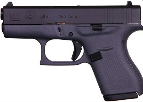 "Glock G42 Gray .380ACP, 3.25"" Barrel Fixed Sights, Gray 6rd Mag"