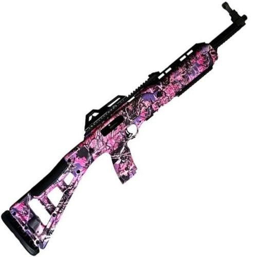 """Hi-Point Hi-Point Model 995 9mm Carbine 16.5"""" Barrel Black Finish Pink Skeletonized Target Stock 10rd"""