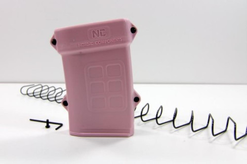 Nordic Components 18-Round Extension for MagPul PMAG, Pink. Get 48 rounds in a 30-round PMAG (Mag Not Included)