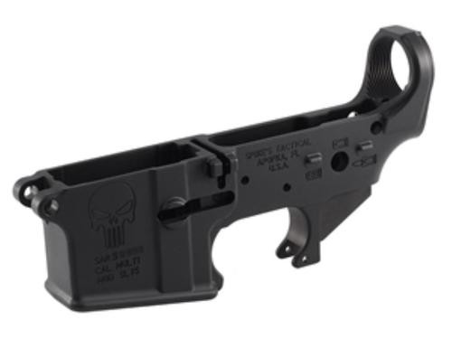 Spikes AR-15 Lower Receiver Stripped, Punisher Logo