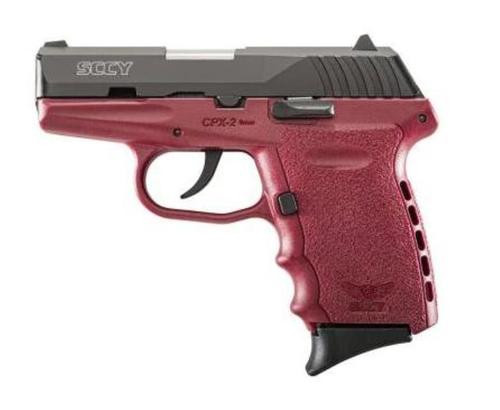 "SCCY CPX-2 Double Action Only 9mm 3"" Barrel Crimson Red Polymer Frame No Manual Safety 10rd Mag"