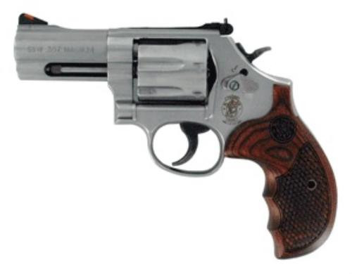 Smith & Wesson 686 Textured Wood Grips 357 7rd TALO