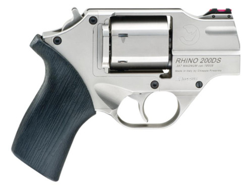 """Chiappa Whtie Rhino Revolver .40 SW 2"""" Barrel, Rubber Grip Brown Holster Included 5 Moonclips 6rds"""