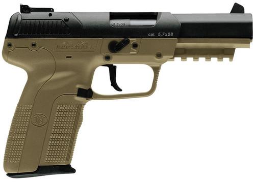 "FN Five-Seven 5.7X28mm 4.8"" Adjustable 3-Dot Sights, Flat Dark Earth, 20 Round"