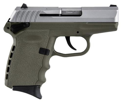 """SCCY CPX-1 Two Tone DAO 9mm 3.1"""" Barrel, Flat Dark Earth Poly Grip/Frame SS Slide, 10rd"""