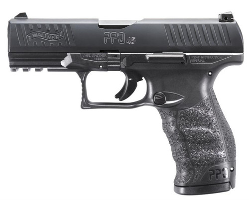 "Walther PPQ M2 45 ACP 4"" Barrel Black 12 Rd Mags"