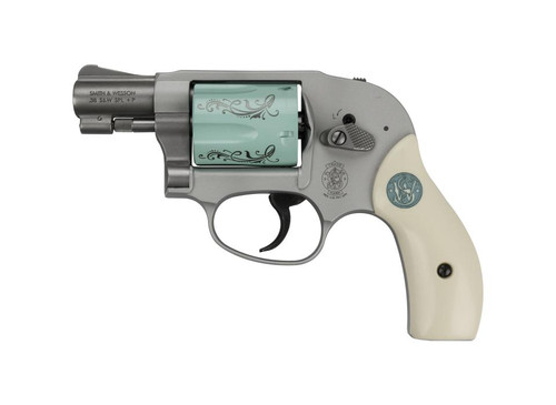 """Smith & Wesson Model 638 Ariweight, .38 Special, 1-7/8"""", 5rd, Tiffany Blue W/Engraving"""