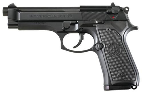 "Beretta M9 9mm 4.9"" Barrel Military Style Markings Black Finish 2x15rd Mags"
